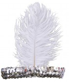 1920s Flapper Stretch Sequin Headband Costume Accessory Silver_thumb.jpg