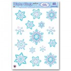 Snowflake Blue White Window Clings Pack of 15_thumb.jpg
