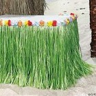 Artificial Grass Green Flowered Table Skirt_thumb.jpg