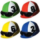 Jockey Helmet Melbourne Cup Cutouts Pack of 4_thumb.jpg