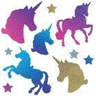 Unicorn Star Holographic Cardboard Cutouts Pack of 10_thumb.jpg