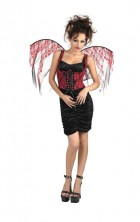 Red Black Lace Corset with Wings Women's Gothic Costume_thumb.jpg