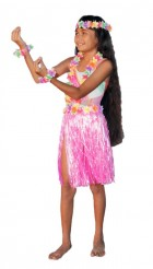 Child Hawaiian Luau Theme Party Costume Set Pink_thumb.jpg