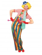 Striped Clown Overalls Adult Costume Medium_thumb.jpg