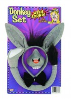 Donkey Ears Tail Bowtie & Nose With Sound Costume Accessory Set_thumb.jpg