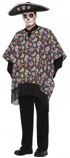 Day of the Dead Mexican Poncho Serape Adult_thumb.jpg