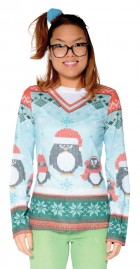 Ugly Ladies Winter Penguin Christmas T-Shirt Adult_thumb.jpg