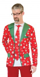 Christmas Suit.Ugly Christmas Suit Tie T Shirt Adult