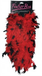 1920's Flapper Women's 6ft Red Black Feather Boa Costume Accessory_thumb.jpg
