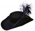 1600s 1700s Adult Musketeer Cavalier Hat with Plume_thumb.jpg