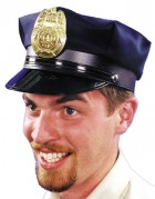 Adult Police Officer Costume Black Hat with Badge_thumb.jpg