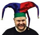 Adult Jester Mardi Gras Men's Costume Velvet Hat_thumb.jpg