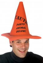 Caution Party Animal Below Traffic Safety Cone Adult Hat_thumb.jpg