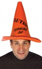 Caution Turning 50 Traffic Safety Cone Adult Hat_thumb.jpg