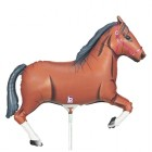 Mini Shape Melbourne Cup Brown Horse 35cm Foil Balloon_thumb.jpg