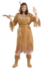 Native American Indian Maid Adult Plus Women's Costume_thumb.jpg