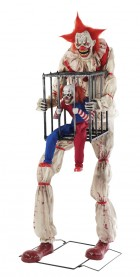 Cagey the Clown With Mini Clown in Cage Animated Halloween Prop_thumb.jpg