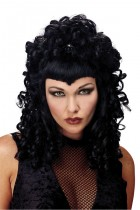 Spider Queen Black Tight Curled Women's Costume Wig_thumb.jpg
