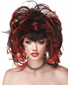 Wicked Evil Sorceress Goth Costume Wig Black Red_thumb.jpg