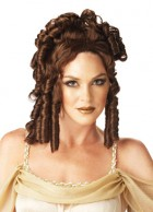 Roman Greek Goddess Adult Costume Curly Wig Brown_thumb.jpg