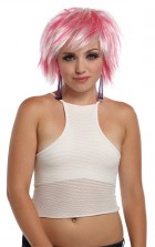 Punky Pixie Wig Costume Accessory White Hot Pink_thumb.jpg