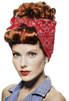 Womens Retro Riveter Wig With Bandana Costume Accessory Red_thumb.jpg