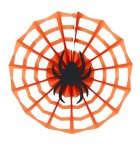 Orange Black Hanging Spider Web Paper Halloween Decoration Prop_thumb.jpg