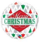 Merry Christmas Tree Patterns 45cm Foil Balloon_thumb.jpg