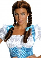 Wizard of Oz Dorothy Wig Auburn Braids Deluxe Women's Costume Accessory_thumb.jpg