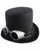 Steampunk Black Adult Hat With Goggles_thumb.jpg