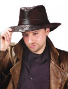 Indiana Jones Adult Leather-Look Black Fedora Hat_thumb.jpg