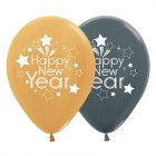 Happy New Year Gold Graphite Metallic 30cm Latex Balloons Pack of 25_thumb.jpg