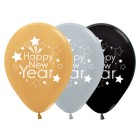 Happy New Year Silver Gold Black Metallic 30cm Latex Balloons Pack of 25_thumb.jpg
