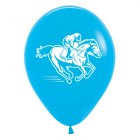 Melbourne Cup Horse Racing Blue Fashion 30cm Latex Balloons Pack of 6_thumb.jpg
