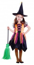 Janie The Witch Toddler Child Costume Pink Black Dress Theme Party Halloween