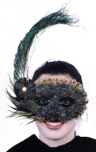 1920's Style Peacock Feather Mask Adult's Masquerade Ball Costume_thumb.jpg