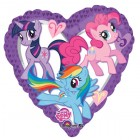 My Little Pony Characters Heart 45cm Foil Balloon_thumb.jpg
