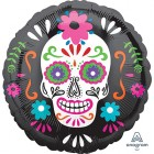 Day of the Dead Sugar Skull 45cm Foil Balloon_thumb.jpg