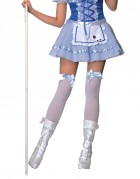 Stay Up Thigh High Stockings White With Bow Assorted Colours Adult Costume Acessory_thumb.jpg