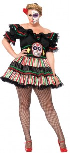 Day of the Dead Doll Adult Plus Costume_thumb.jpg