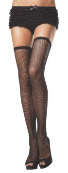 Women's Fishnet Thigh High French Maid Costume Stockings_thumb.jpg