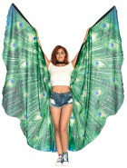 Peacock Feather Halter Wing Cape Adult Costume Accessory_thumb.jpg