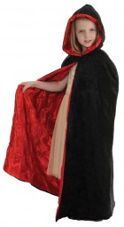 Child Vampire Costume Velvet Cape Black & Red_thumb.jpg