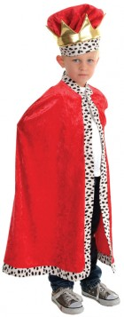 Royal King Dress Up Red Child Costume Cape_thumb.jpg