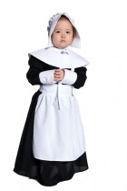 Pilgrim Girl White & Black Child Girl's Costume_thumb.jpg