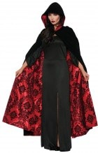 Cape Velvet Satin Red Black Adult_thumb.jpg