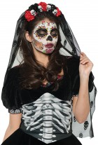 Day of the Dead Halloween Mantilla Adult_thumb.jpg