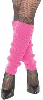 Neon Pink Leg Warmers Adult Costume Accessory_thumb.jpg