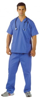 Blue Scrubs Surgeon Adult Costume Plus Size _thumb.jpg