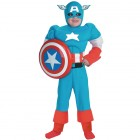 Captain America Deluxe Muscle Child Costume Medium